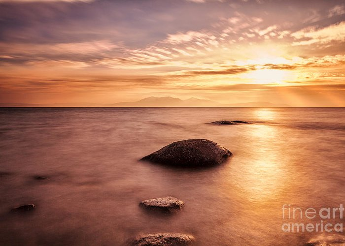 Ayrshire Greeting Card featuring the photograph Over The Sea To Arran by John Farnan