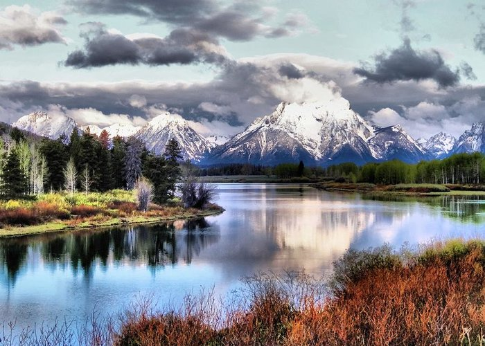 Oxbow Bend Greeting Card featuring the photograph Oxbow Bend by Dan Sproul