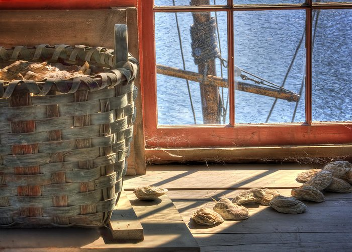 Hdr Greeting Card featuring the photograph Oyster Basket by Mikael Carstanjen