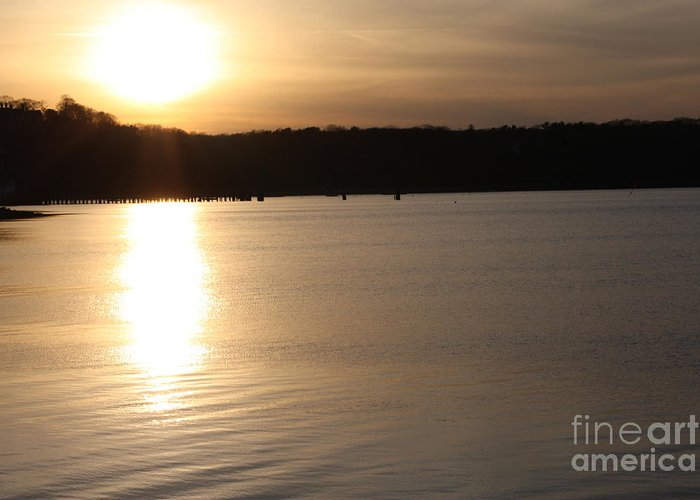 Oyster Bay Sunset Greeting Card featuring the photograph Oyster Bay Sunset by John Telfer