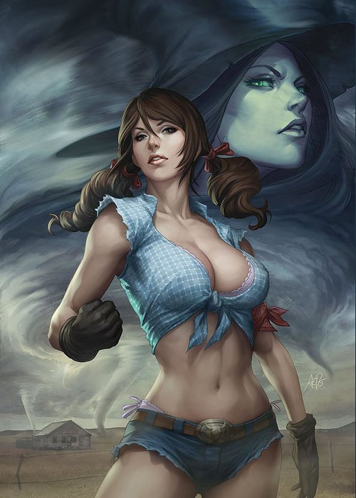 Grimm Fairy Tales Greeting Card featuring the digital art Oz 01b by Zenescope Entertainment