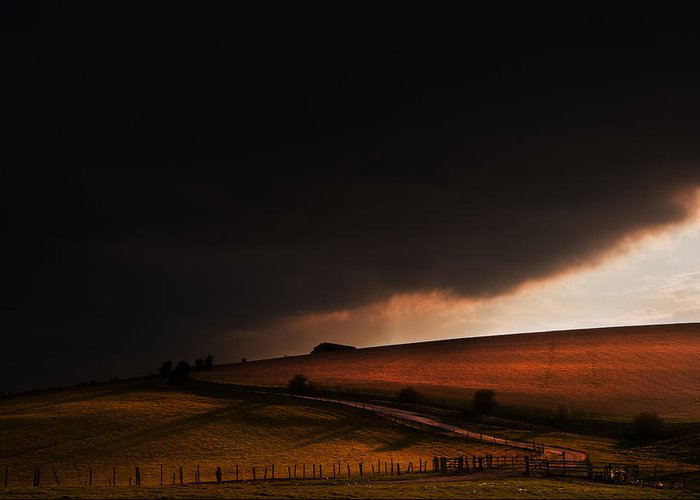 Landscape Greeting Card featuring the photograph Oz In Kansas by Matthew Gibson