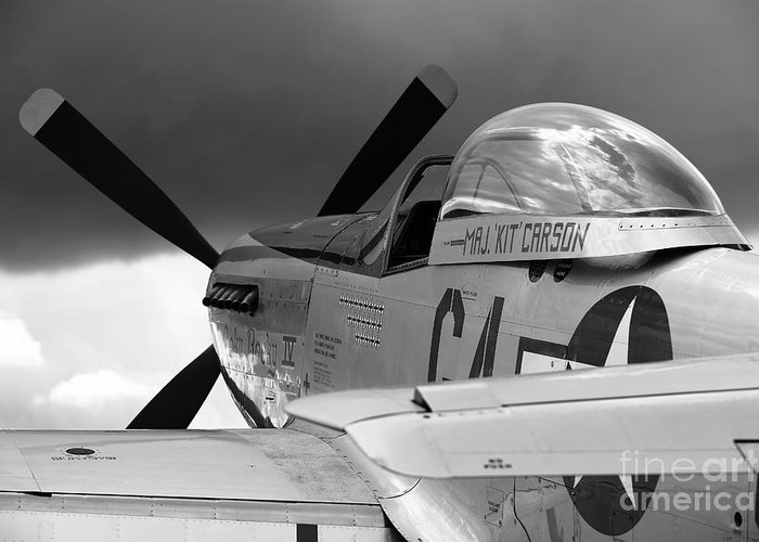 P51 Greeting Card featuring the photograph P51 D by Remy NININ
