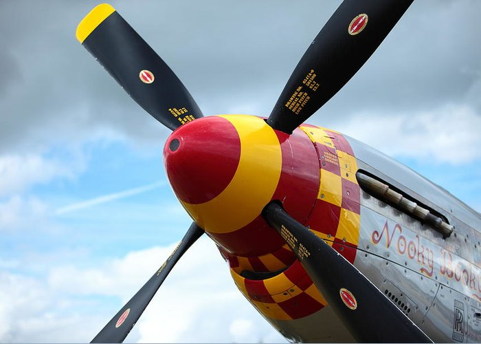 P51 Greeting Card featuring the photograph P51 Propeller by Remy NININ