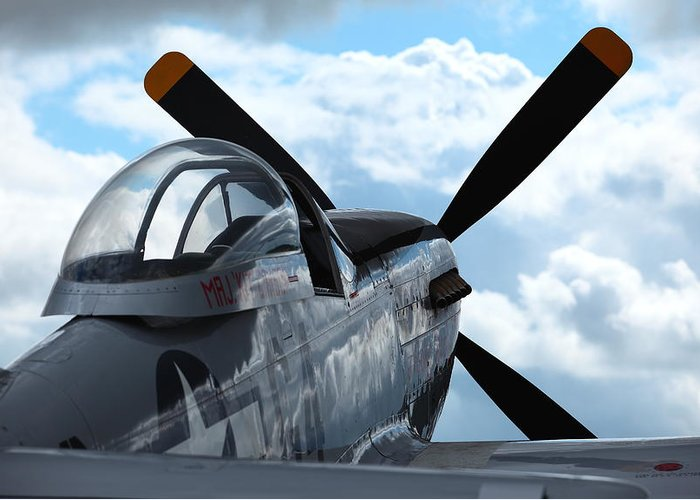 P51 Greeting Card featuring the photograph P51 by Remy NININ