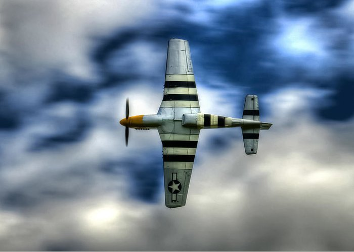 P51 Mustang Greeting Card featuring the photograph P51d Mustang Ferocious Frankie by Phil 'motography' Clark