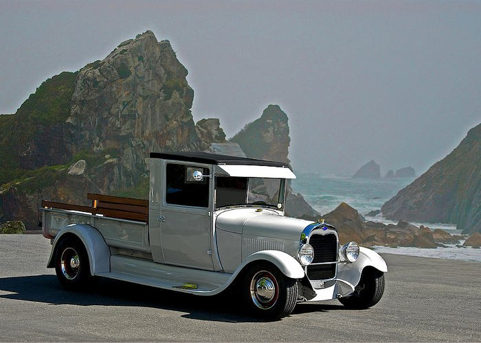 Coupe Greeting Card featuring the photograph Pacific Coast Haul'n by Dave Koontz