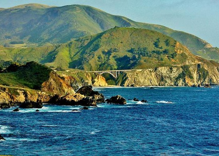 Big Sur Greeting Card featuring the photograph Pacific Coast Panorama by Benjamin Yeager