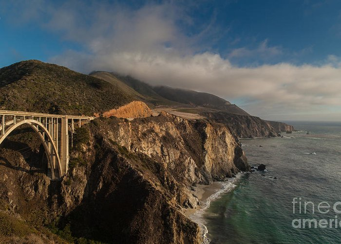 Soberanes Greeting Card featuring the photograph Pacific Coastal Highway by Mike Reid