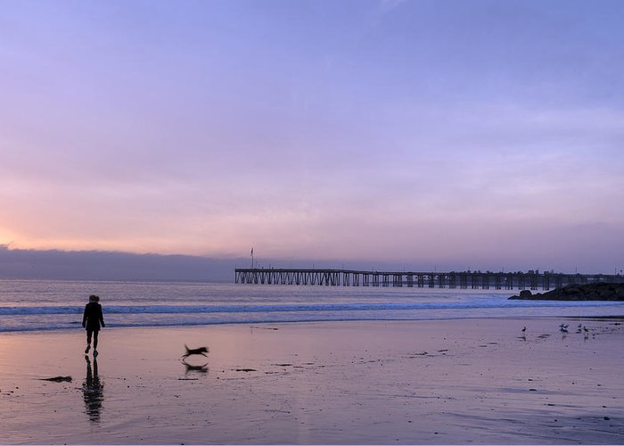 Ventura Greeting Card featuring the photograph Pacific Ocean Scenic In Ventura by Carol M Highsmith