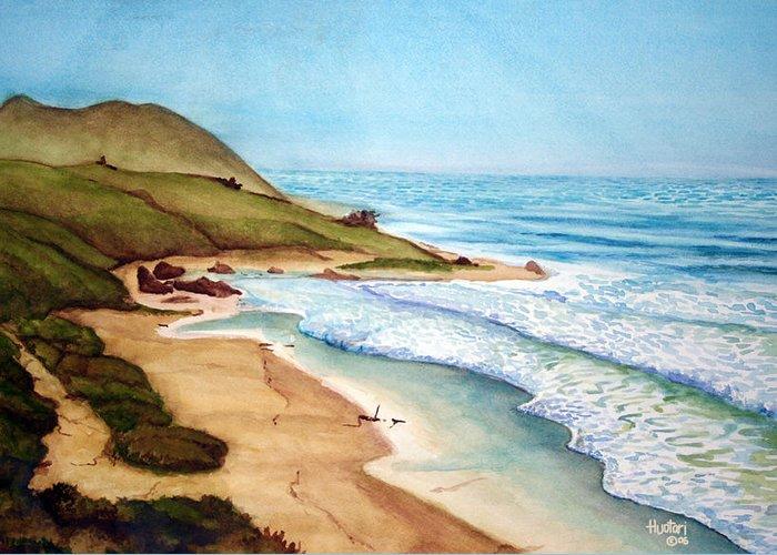 Rick Huotari Greeting Card featuring the painting Pacific by Rick Huotari