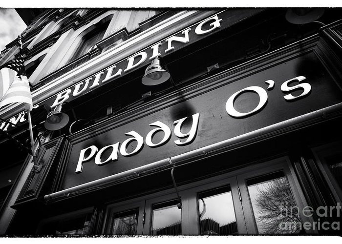 Building Greeting Card featuring the photograph Paddy O's by John Rizzuto
