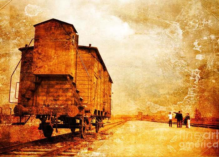 Holocaust Greeting Card featuring the photograph Painful Memories by Randi Grace Nilsberg