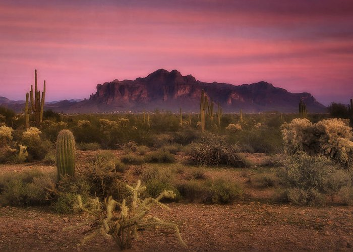 Sunset Greeting Card featuring the photograph Paint It Pink Sunset by Saija Lehtonen