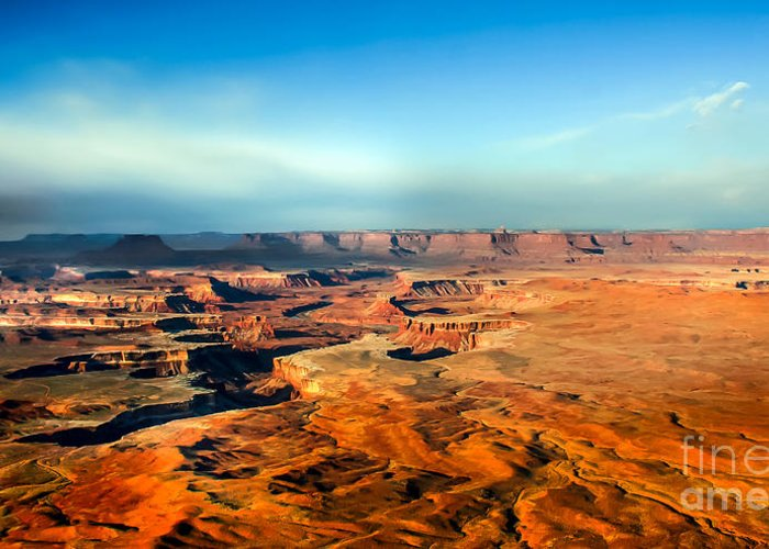 Canyonland Greeting Card featuring the photograph Painted Canyonland by Robert Bales