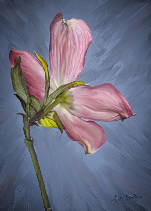 Pink Greeting Card featuring the photograph Painted Dogwood by Maggie Magee Molino
