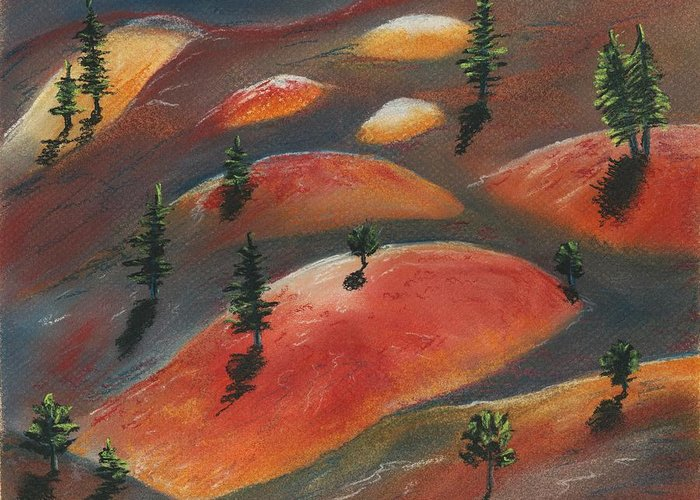 Famous Greeting Card featuring the painting Painted Dunes by Anastasiya Malakhova