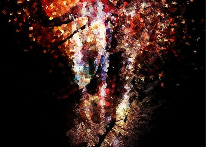 Painted Greeting Card featuring the digital art Painted Fireworks by Andrea Barbieri