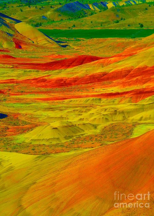 Newel Hunter Greeting Card featuring the photograph Painted Hills 2 by Newel Hunter
