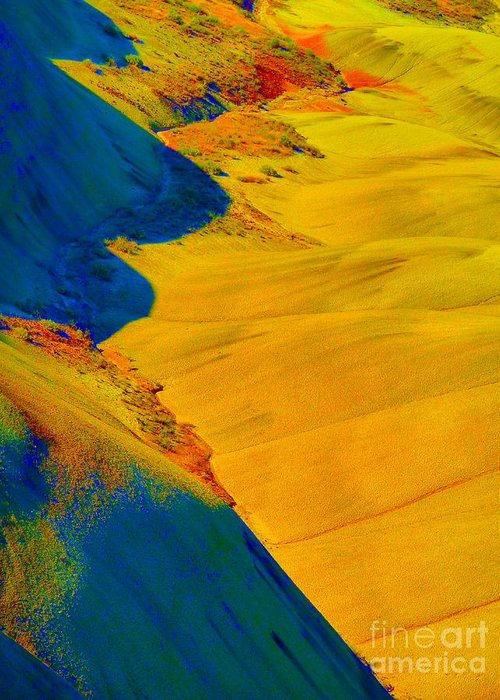 Newel Hunter Greeting Card featuring the photograph Painted Hills 3 by Newel Hunter