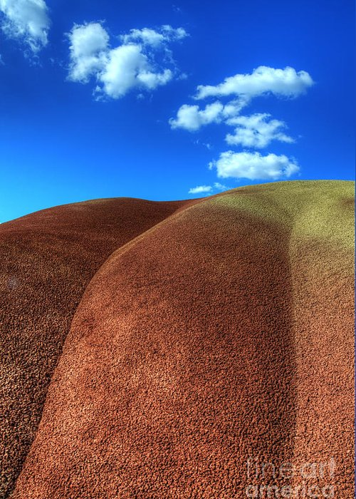 John Day Greeting Card featuring the photograph Painted Hills Blue Sky 2 by Bob Christopher
