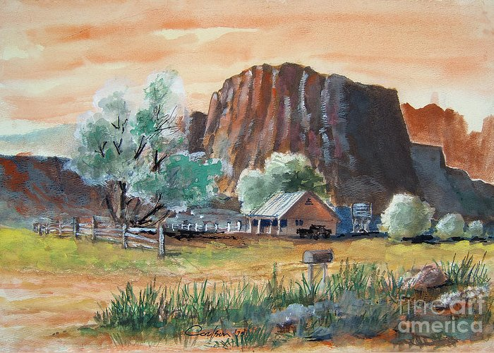 Anthony Coulson Greeting Card featuring the painting Painted Ranch by Anthony Coulson