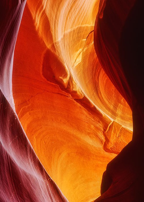 Antelope Canyon Greeting Card featuring the photograph Painted Rocks by David Davis