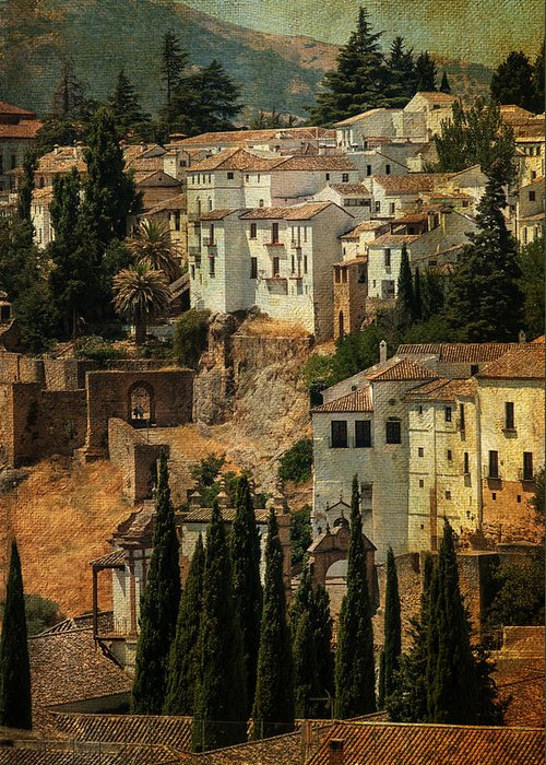 Spain Greeting Card featuring the photograph Painted Ronda. Spain by Jenny Rainbow