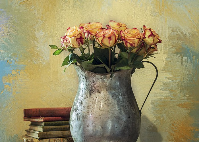 Rose Greeting Card featuring the photograph Painted Roses by Terry Rowe