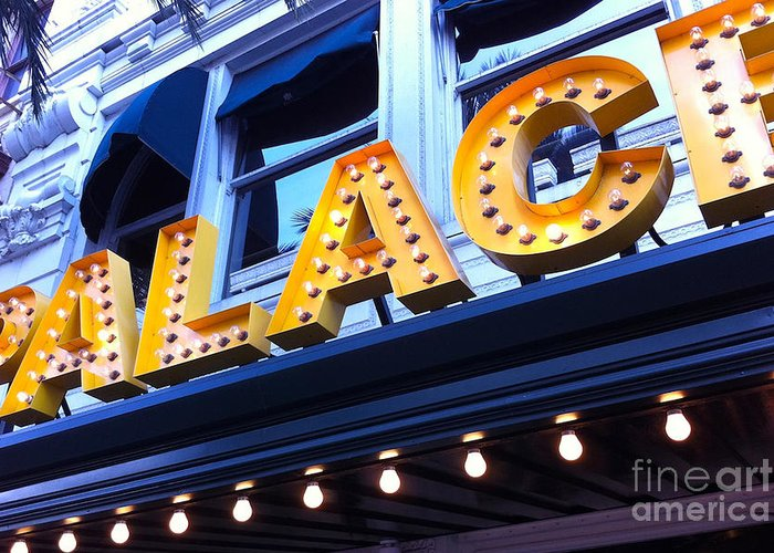 Palace Cafe Greeting Card featuring the photograph Palace Cafe by Kim Fearheiley