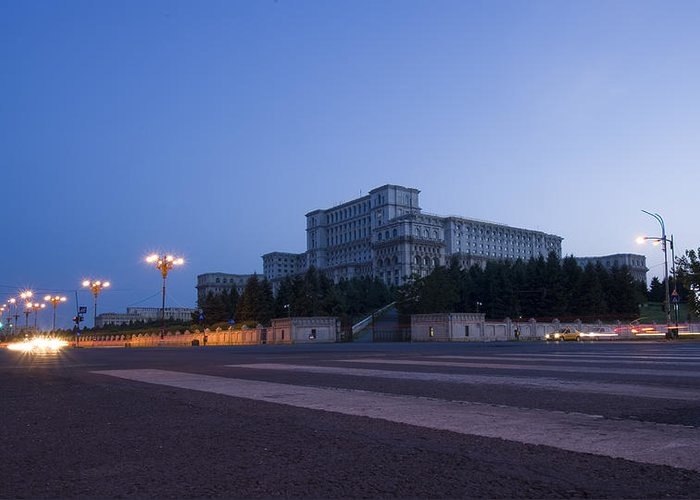 Administration Greeting Card featuring the photograph Palace Of The Parliament by Ioan Panaite