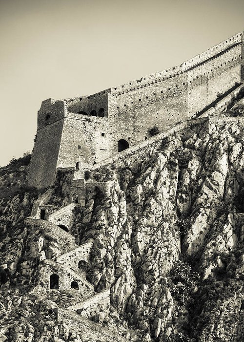 Nafplio Greeting Card featuring the photograph Palamidi Fortress Stairs by David Waldo