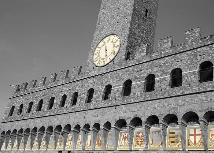 Florense Greeting Card featuring the photograph Palazzo Vecchio At Florense by Aleksandar Hajdukovic
