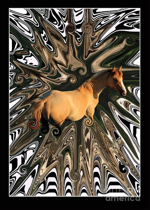 Abstract Greeting Card featuring the photograph Pale Horse by Aidan Moran