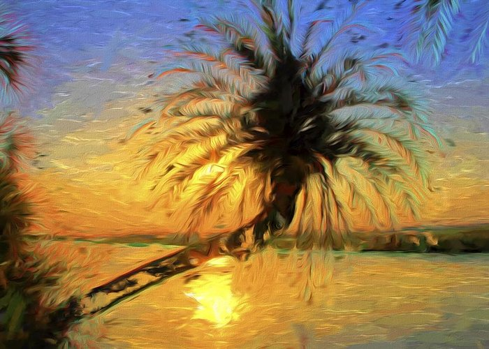 Palm Tree Greeting Card featuring the photograph Palm Beauty by Alice Gipson