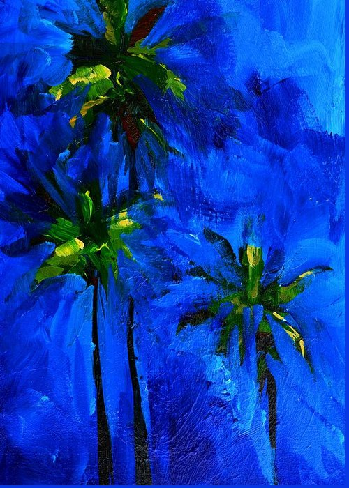 Art Greeting Card featuring the painting Palm Trees Abstract by Patricia Awapara