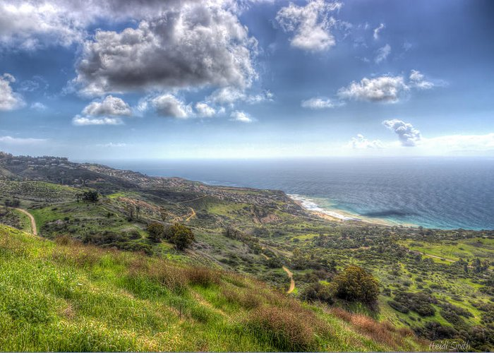 Bay Greeting Card featuring the photograph Palos Verdes Peninsula Hdr by Heidi Smith