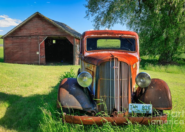 America Greeting Card featuring the photograph Palouse Dodge by Inge Johnsson