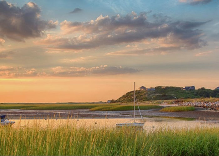 Scenics Greeting Card featuring the photograph Pamet Harbor In Afternoon by Betty Wiley