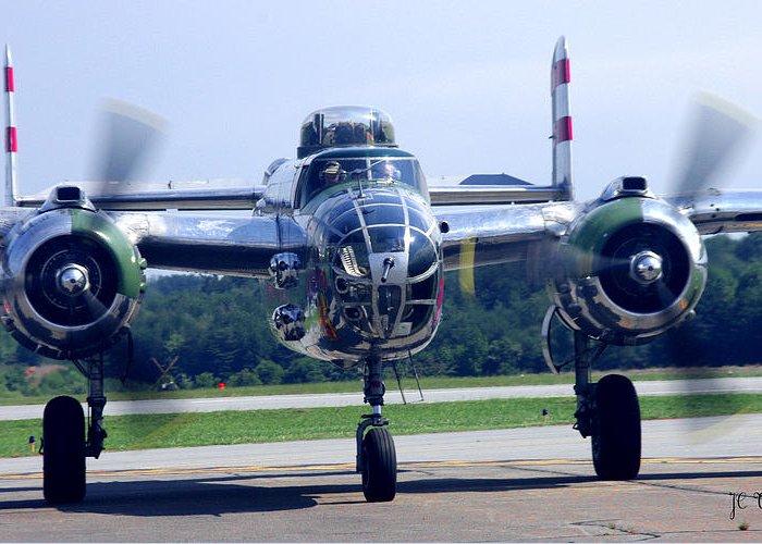 B-25 Warbird Greeting Card featuring the photograph Panchito B 25 J Warbird by James C Thomas