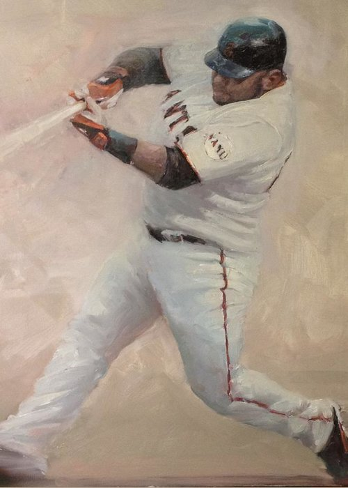 Pablo Sandoval Greeting Card featuring the painting Panda Homer #1 by Darren Kerr
