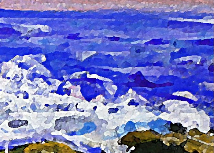 Beach Greeting Card featuring the painting Panel 4 by Rita Brown