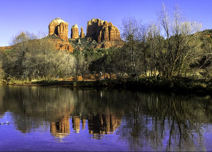 Arizona Greeting Card featuring the photograph Panorama At Red Rocks Crossing In Sedona Az by Teri Virbickis