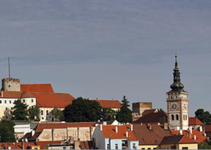 Mikulov Greeting Card featuring the photograph panorama - Mikulov castle by Michal Boubin