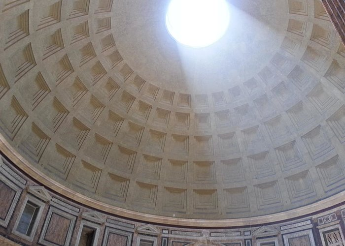 Pantheon Dome Greeting Card featuring the photograph Pantheon Dome by Brian McCullough
