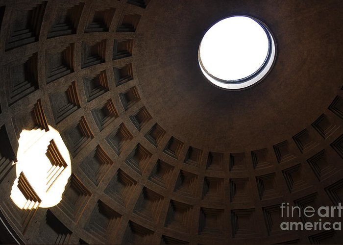 Pantheon Greeting Card featuring the photograph Pantheon Dome by Katie Fitzgerald