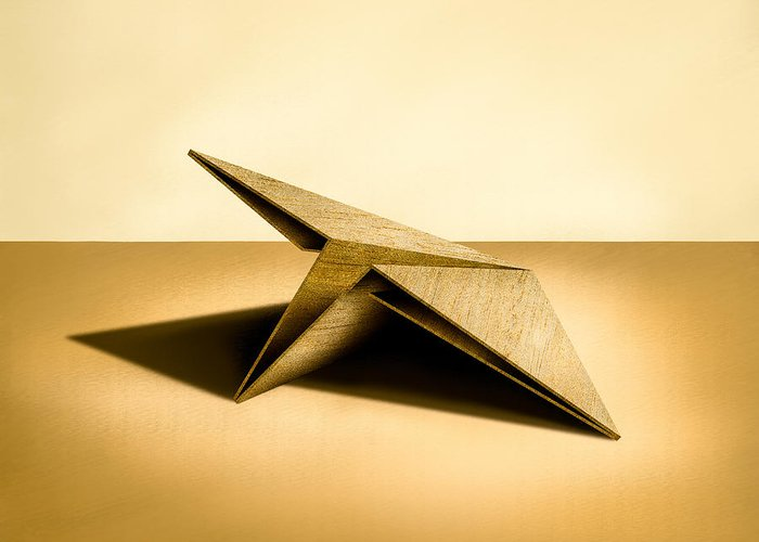 Paper Airplane Greeting Card featuring the photograph Paper Airplanes Of Wood 7 by YoPedro