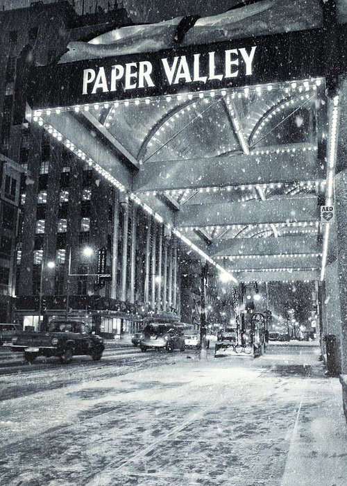 Appleton Greeting Card featuring the photograph Paper Valley by Joel Witmeyer
