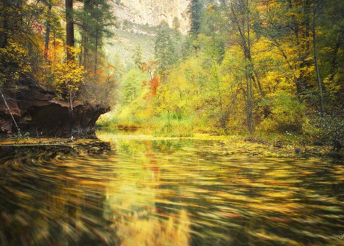Autumn Greeting Card featuring the photograph Parade Of Autumn by Peter Coskun