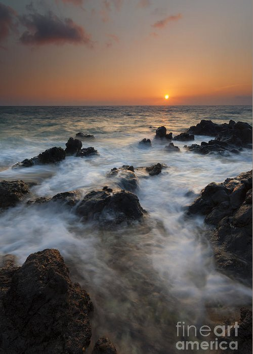 Maui Greeting Card featuring the photograph Paradise Flow by Mike Dawson